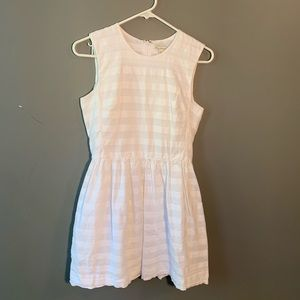 GAP Sleeveless Fit and Flare Dress White Stripes